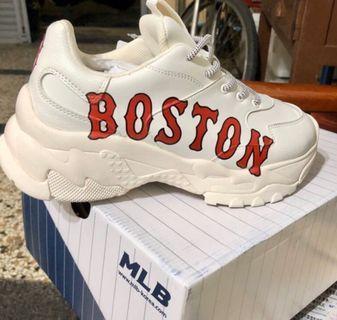 MLB 老爹鞋 洋基 老爹鞋 白底紅字 Boston老爹鞋
