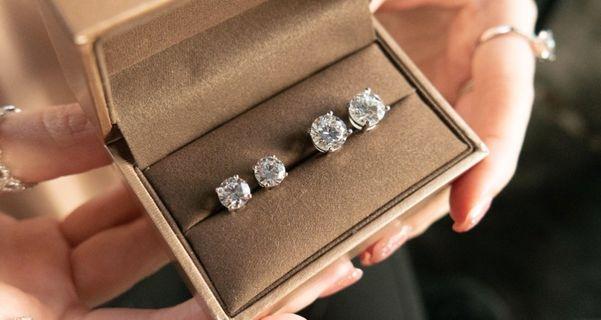 Six Prong 0.50CT Stud Earrings - lab grown diamond
