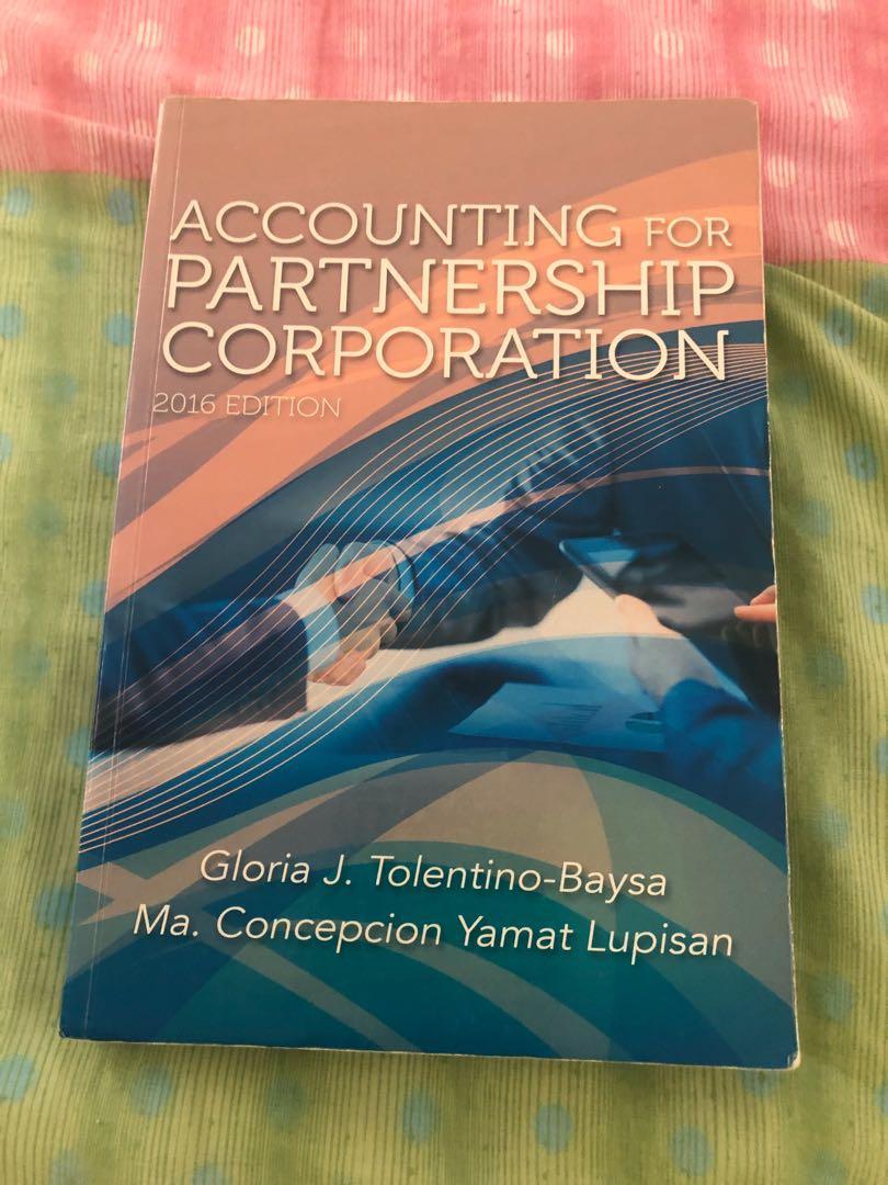 Accounting for Partnership Corporation 2016 by Tolentino-Baysa & Lupisan