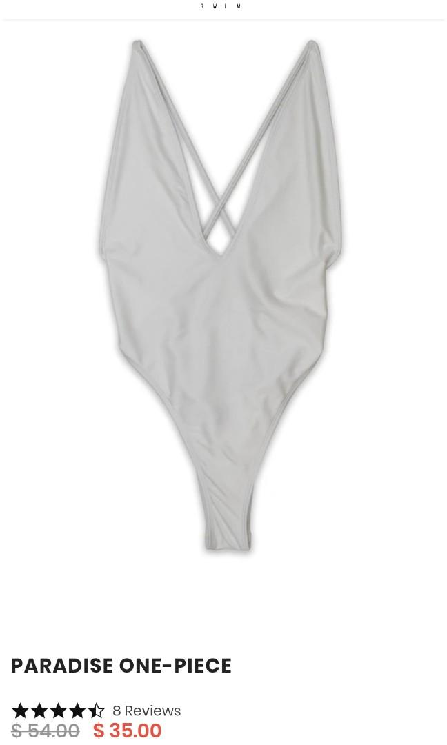 BRAND NEW WHITE ONE PIECE BATHING SUIT - SIZE SMALL