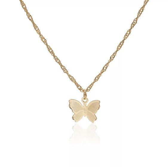 """""""mattea"""" butterfly necklace  (5 charm, 3 charm, 1 charm)"""