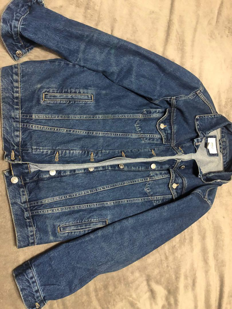 Forever 21 Oversized Blue Denim Jean Jacket Size Small