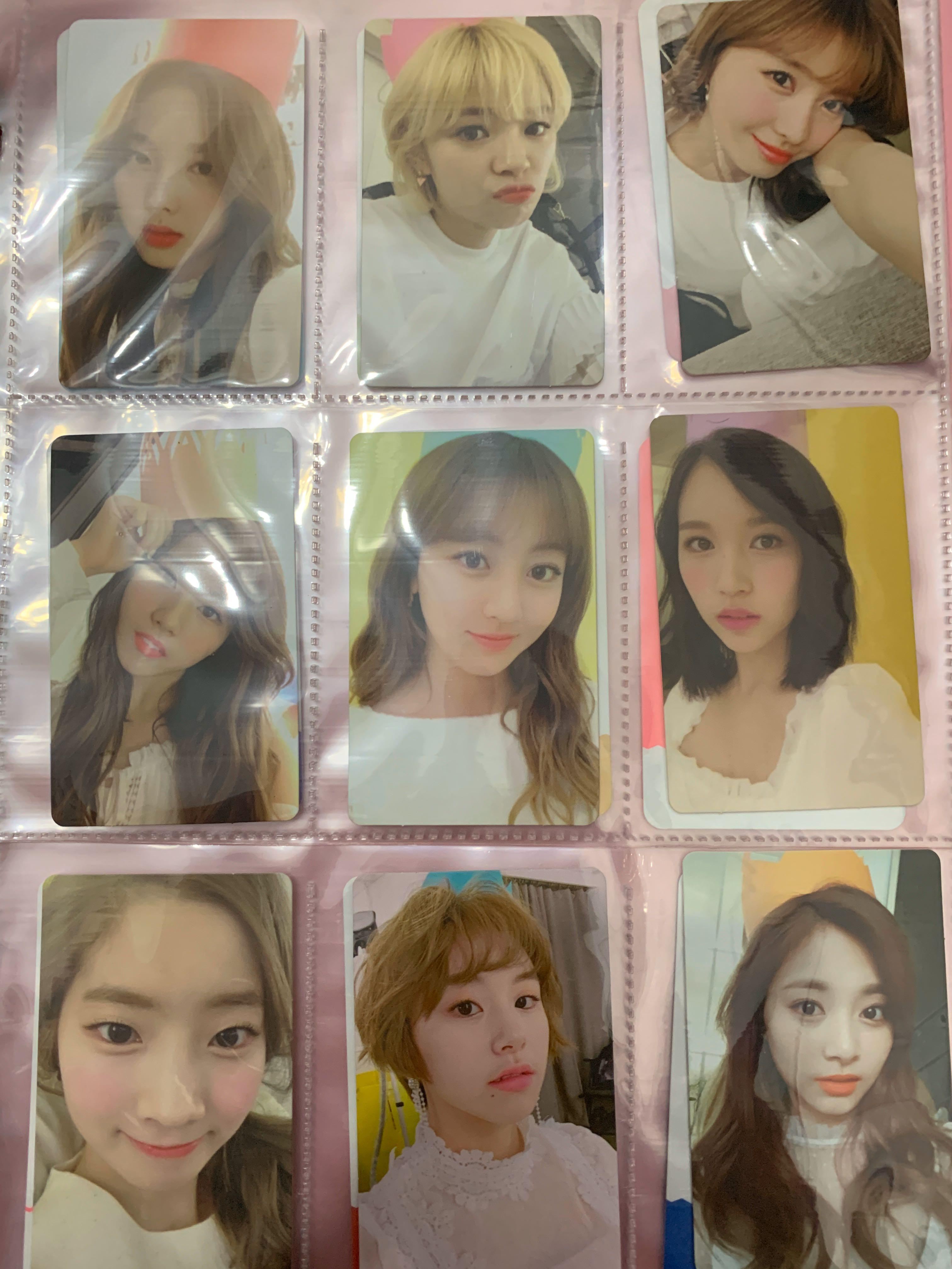 Full set TWICE 1st Generation Official Fan Club photocards