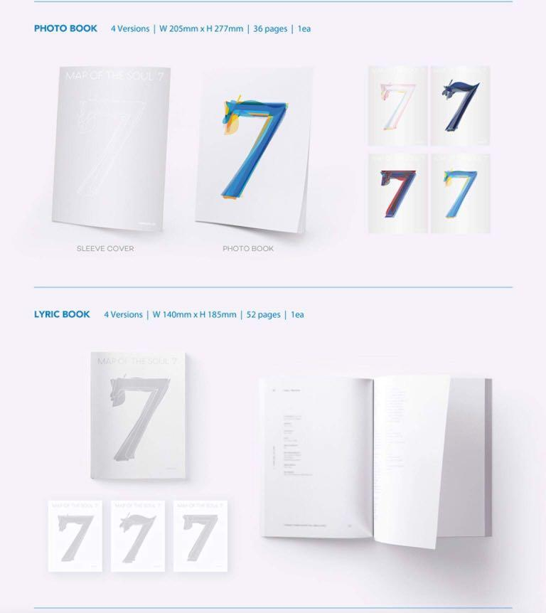 BTS MAP OF THE SOUL : 7 ALBUM : (Weply PO Benefit + Free Gift from @peachlab)