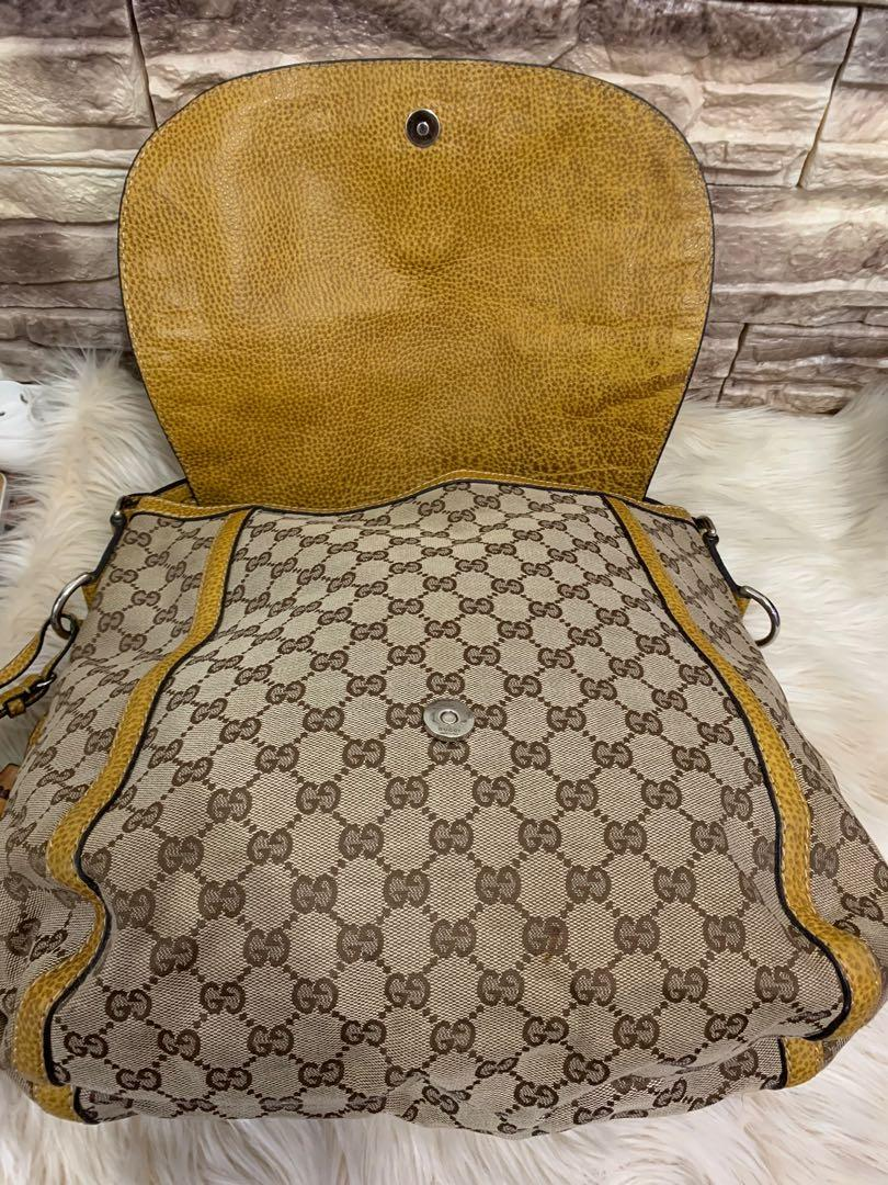 Gucci Sling bag authentic, jinjing juga OK, kondisi 90% mantul sist, 35 cm x 30 cm x 14 cm, bag only! No php!!