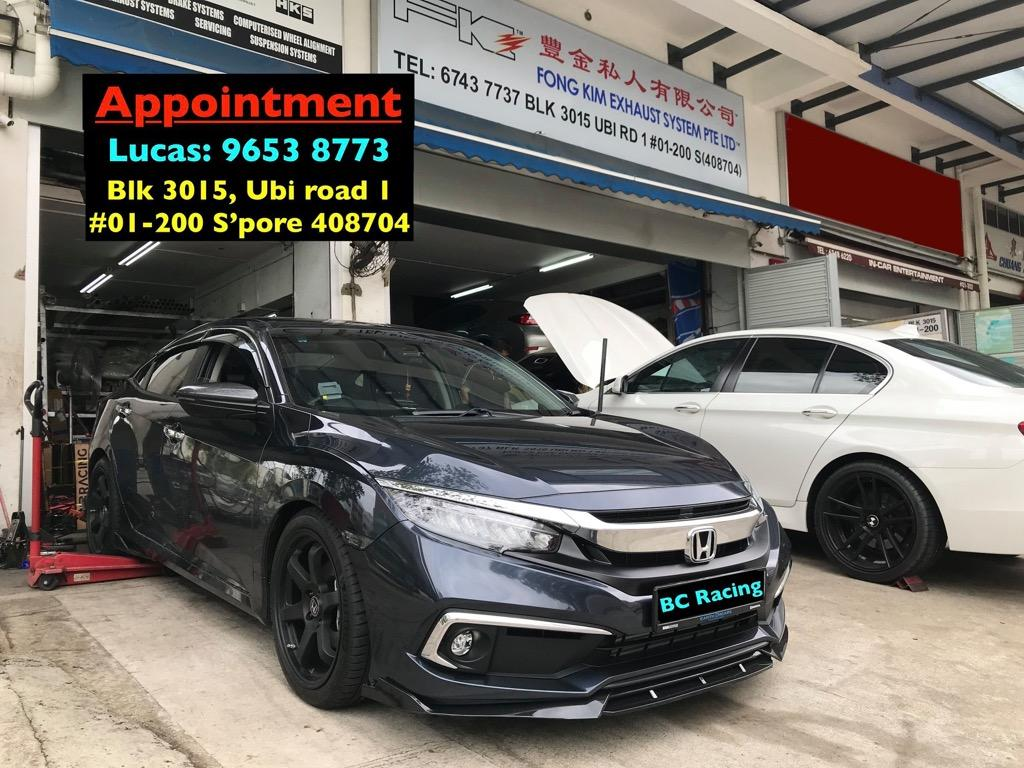 Honda Civic Fc Fk On Bcbr Rn Coilover Car Accessories Accessories On Carousell