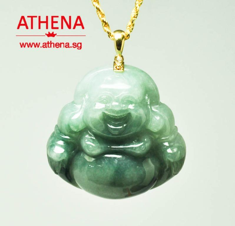 JW_SP_791 JEWELLERY 916 YG MI LEK FO DESIGN JADE ( TYPE A ) PENDANT 57.71G [ CERT ]  PRICE EXCLUDE CHAIN