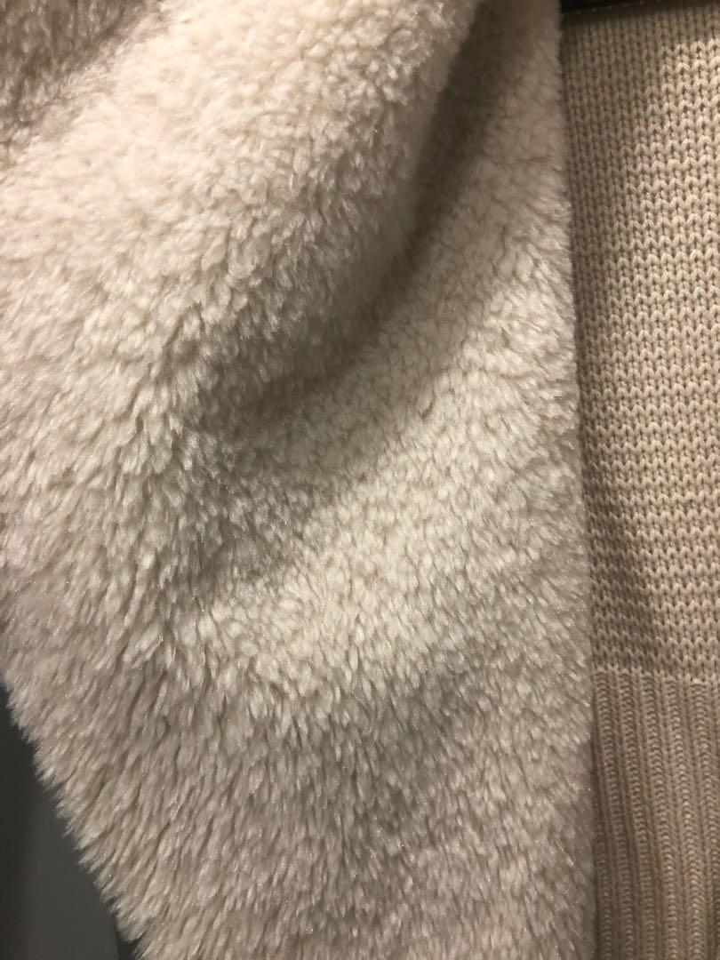 Mendocino John and jenn shearling cardigan sweater