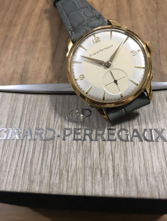 [SOLD] Authentic Very Rare Girard Perregaux 35mm Vintage Small Seconds Yellow Gold Plated - Fully overhauled NOS (beating as new) (great size for ladies and men) (1 GP watch already sold, this will be the last piece!! 😊🙏🏻)  (42mm lug-to-lug)👍🏻