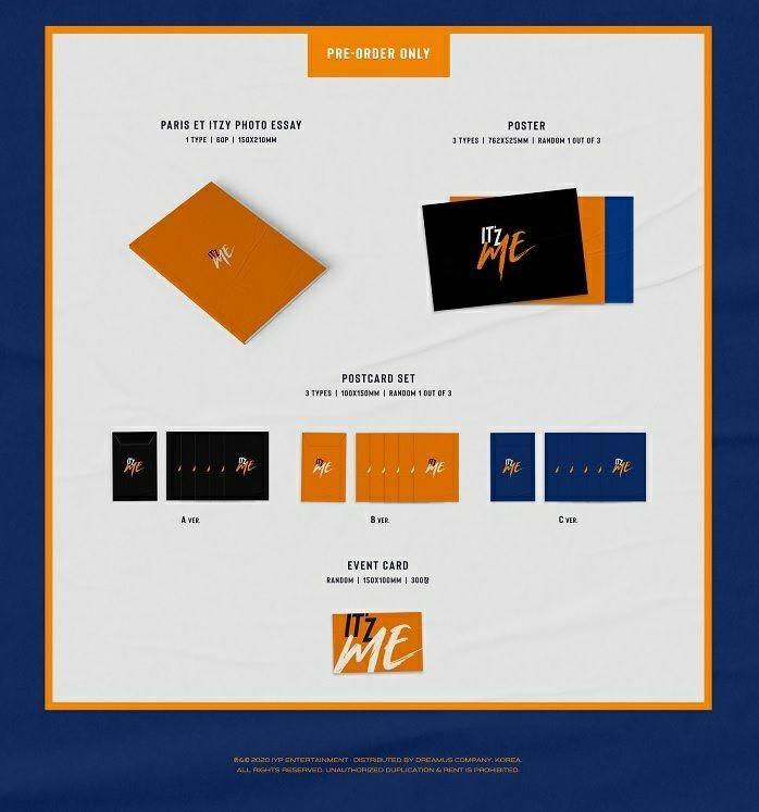 [MY GO] [PRE ORDER][PLEASE RETWEET] [CHEAP] [🙈BUY 8 FREE 1= 3SET🙈] ITZY 2nd Mini Album <ITz ME>