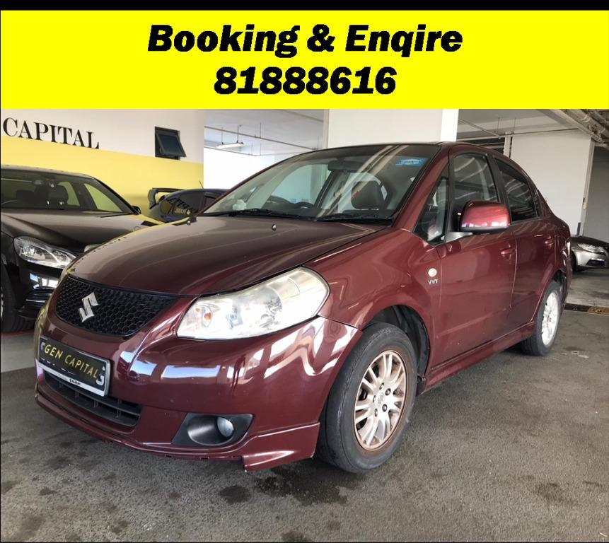 Suzuki SX4 Most Economical, High Fuel Efficiency & Reliability. Easy maintainance. Just $500 Deposit driveoff immediately. No hidden cost. Whatsapp 81888616 now!