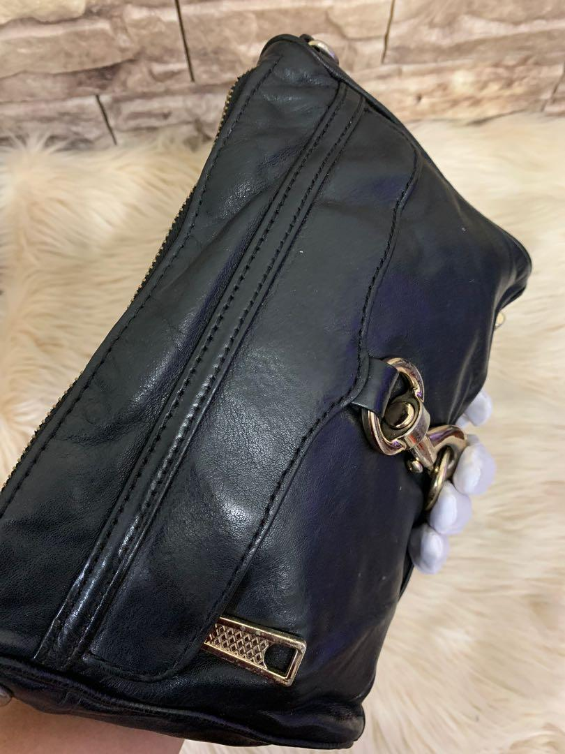 Tas tangan RebeccaMinkoff italy authentic, 23 x 15 x 4 cm, unisex cocok buat makan siang, ngemall dll, kondisi 85% OK ! serius no php!!