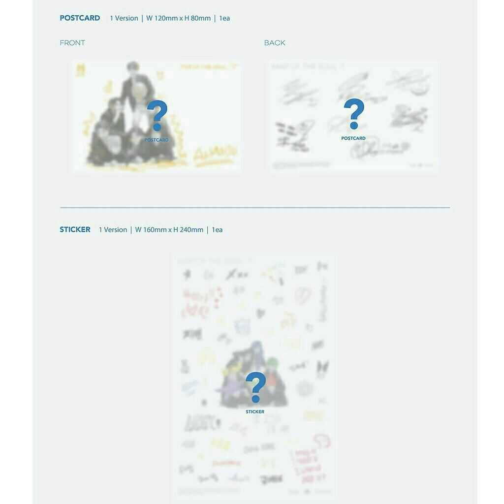 WTS VERSION 1 AND 2 BTS MOTS7 MAPS OF THE SOUL (REGULAR)
