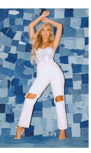 White ripped jeans  Pretty little thing