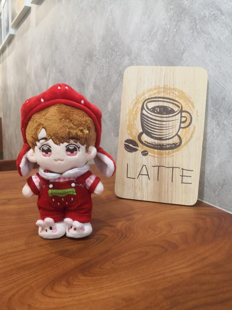 15cm doll clothes strawberry bunny草莓兔娃衣 (4 pcs set)