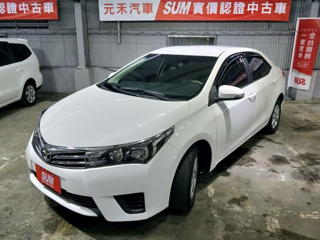 2014年ToyotaAltis1.8E白色 實車實價34萬8