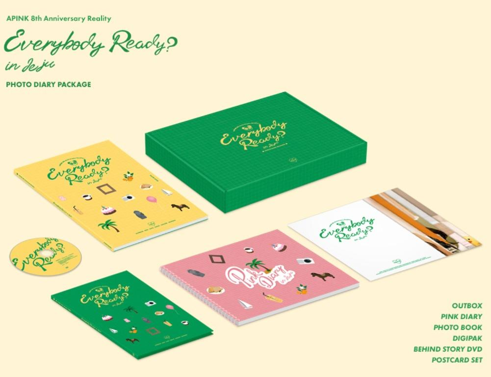APINK - 8th Anniversary Reality [Everybody Ready?] Photo Diary Package
