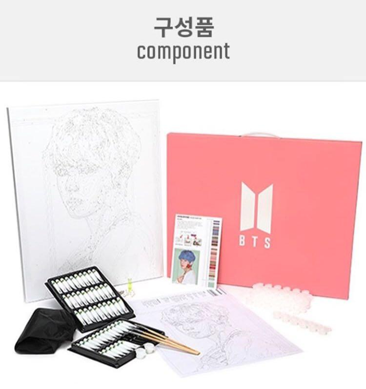 BTS DIY PAINTING KIT FROM POP-UP STORE HOUSE OF BTS