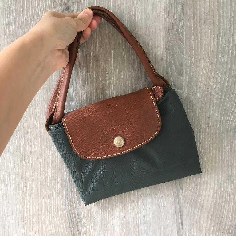 (discount) Longchamp Le Pliage Large Tote Bag Authentic Hunter Green Short Handle