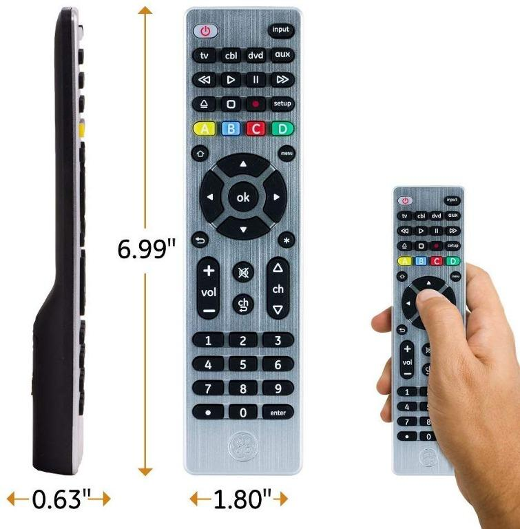 GE 4 Device Universal Remote Control for Smart TVs, etc -