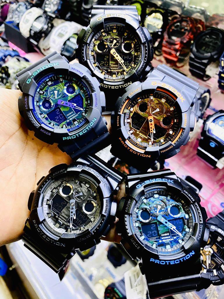 NEW🌟GSHOCK RESISTANT UNISEX DIVER SPORTS WATCH : 100% ORIGINAL AUTHENTIC CASIO G-SHOCK : GA-100BR-1A  / GA100BR-1A / GA-100-BR-1A