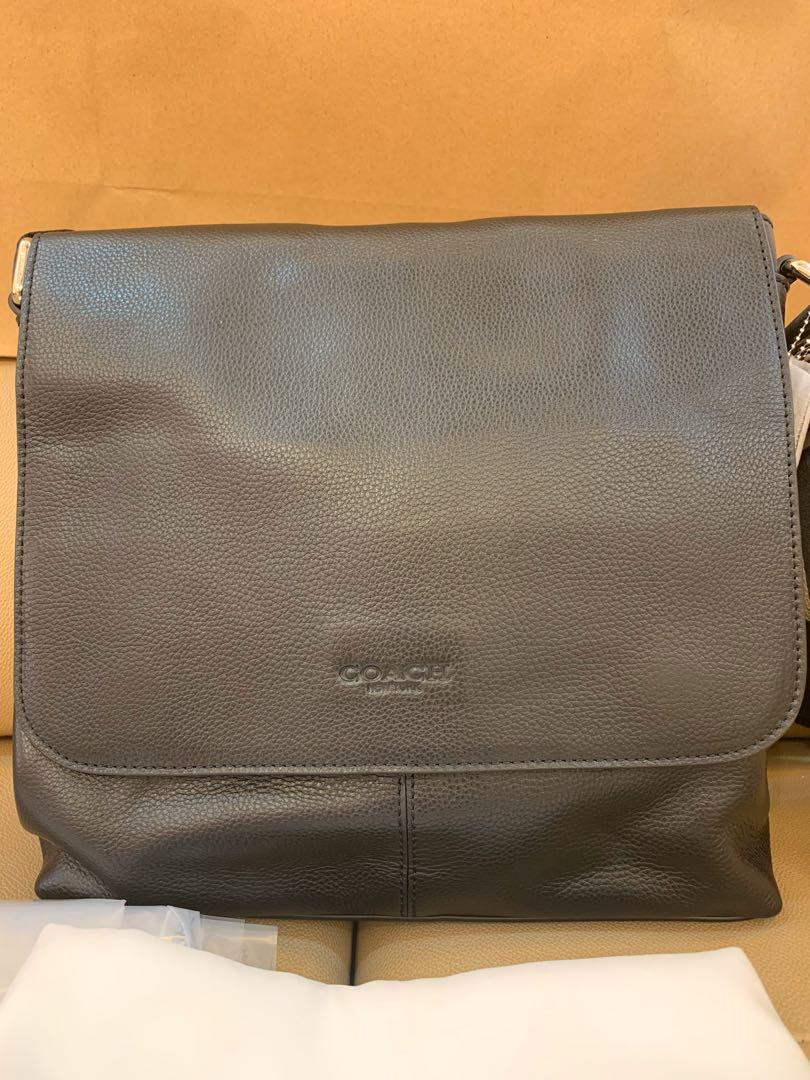 Ready stock authentic coach 72362 Charles sling bag in black