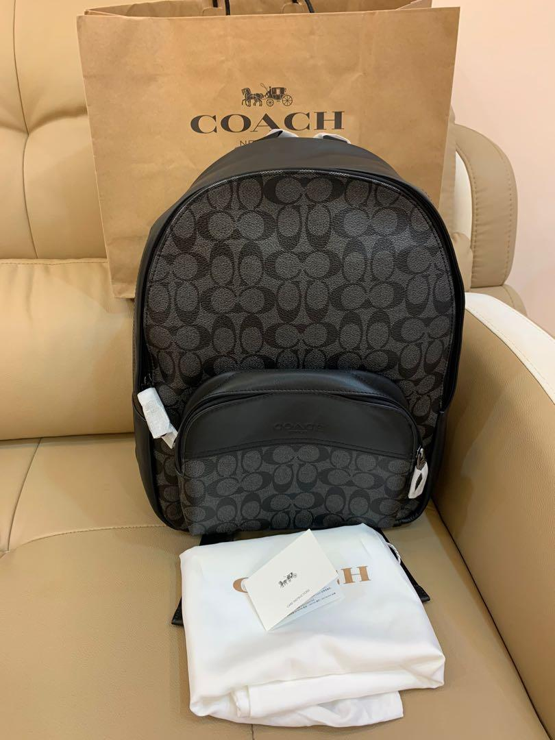 Ready Stock authentic coach men backpack 72483 Houston backpack