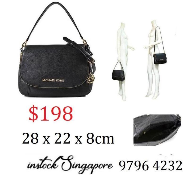 READY STOCK authentic new  Michael Kors Crossbody Shoulder Bag With Gift Bag Bedford Medium Convertible Shoulder Bag Black #35T9GBFL2L
