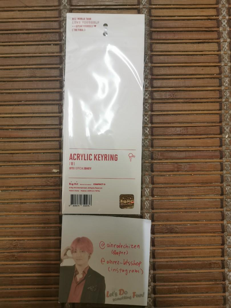 [READYSTOCK] BTS V ACRYLIC KEYRING SPEAK YOURSELF THE FINAL