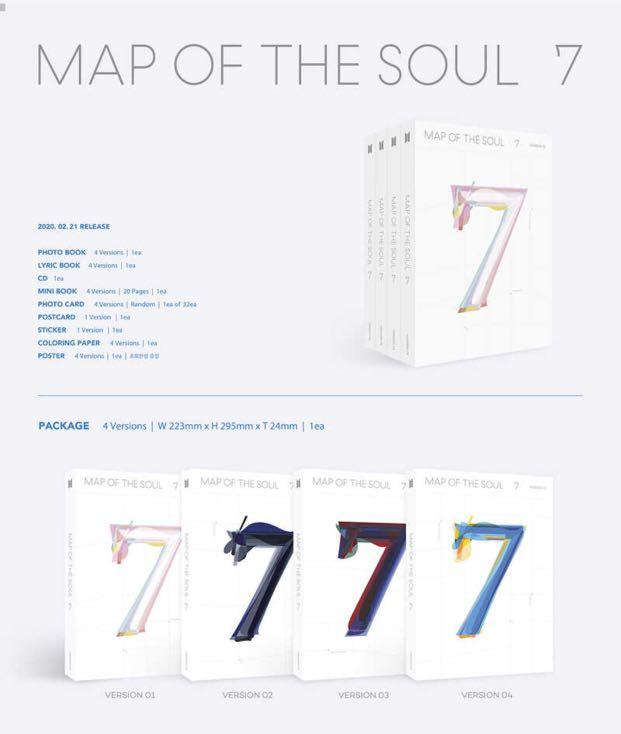 [UPCOMING SEALED READY STOCK] BTS Map Of The Soul : 7