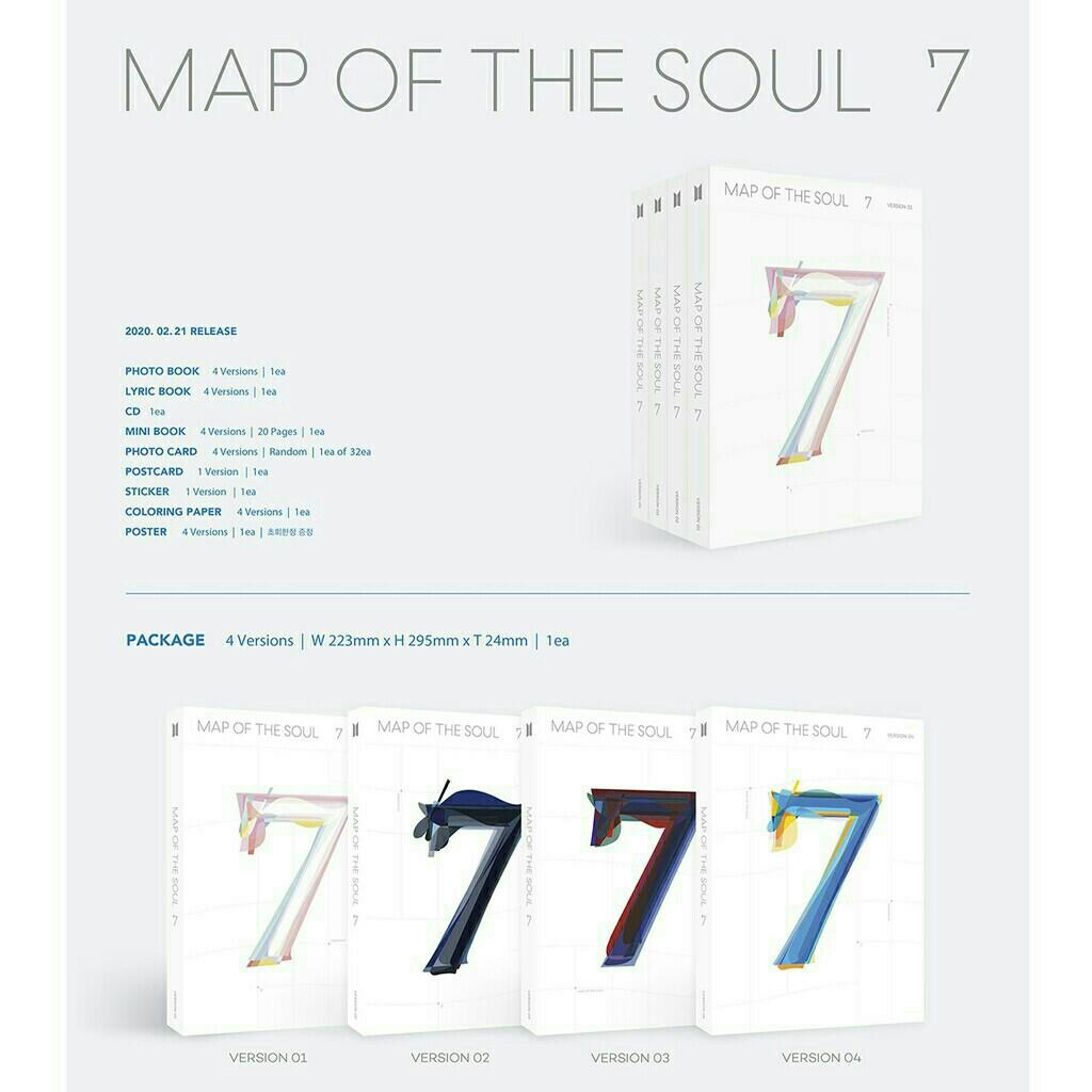 WTS VERSION 1 BTS MAPS OF THE SOUL 7 INCOMING STOCK