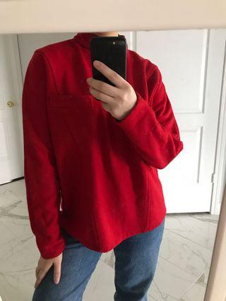 VINTAGE RED STRUCTURED SWEATER