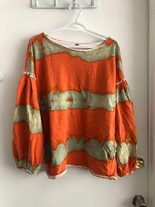 FREE PEOPLE TIE DYED SUMMER SWEATER SIZE LARGE