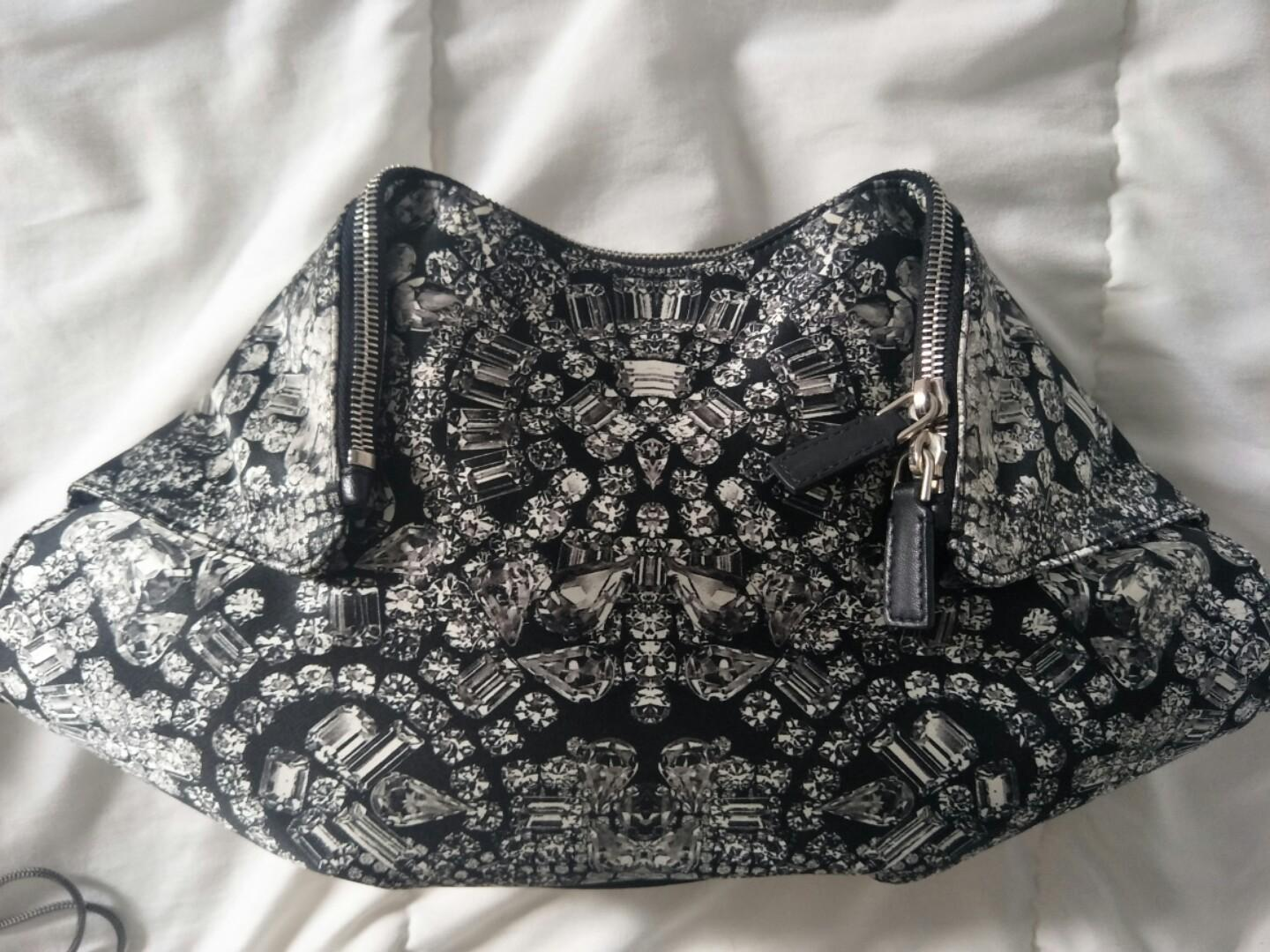 **Alexander McQueen clutch** As good as new!! Used once. RRP $740. Letting go at $600. Negotiable. Fastest fingers first!!
