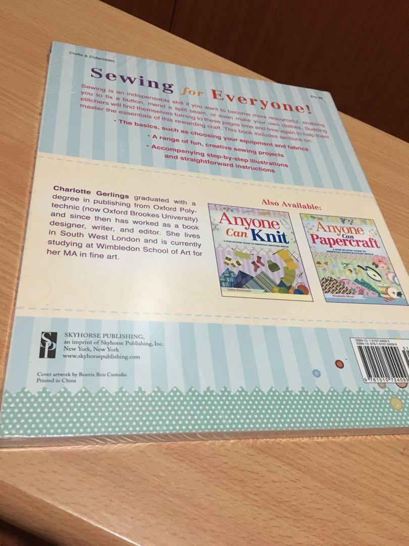 Anyone Can Sew (A Step-by-Step Guide to Essential Sewing Skills) by Charlotte Gerlings