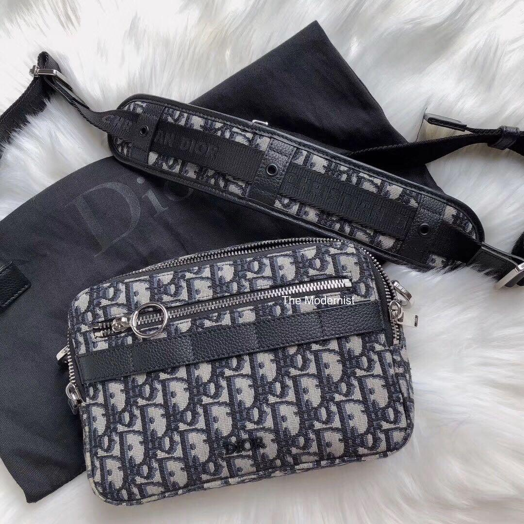 Authentic Pre-loved Christian Dior Men's Safari Dior Oblique Messenger Bag