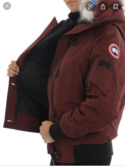 REDUCED Authentic Women's burgundy Canada goose bomber jacket