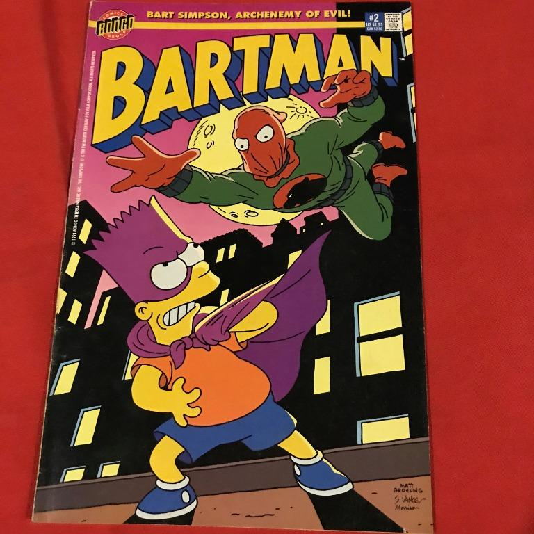BARTMAN, Limited Simpsons series by Bongo, 6 issue set #vintage 1993-1995