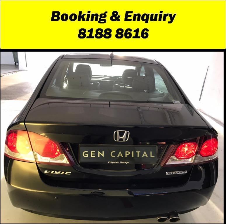 Honda Civic FRIYAYYY!!!  We have lowered rental rates due to Coronavirus for you to travel with a peace of mind. Fuel efficient & Spacious. Just $500 Deposit driveoff immediately. No hidden cost. Whatsapp 8188 8616 now!