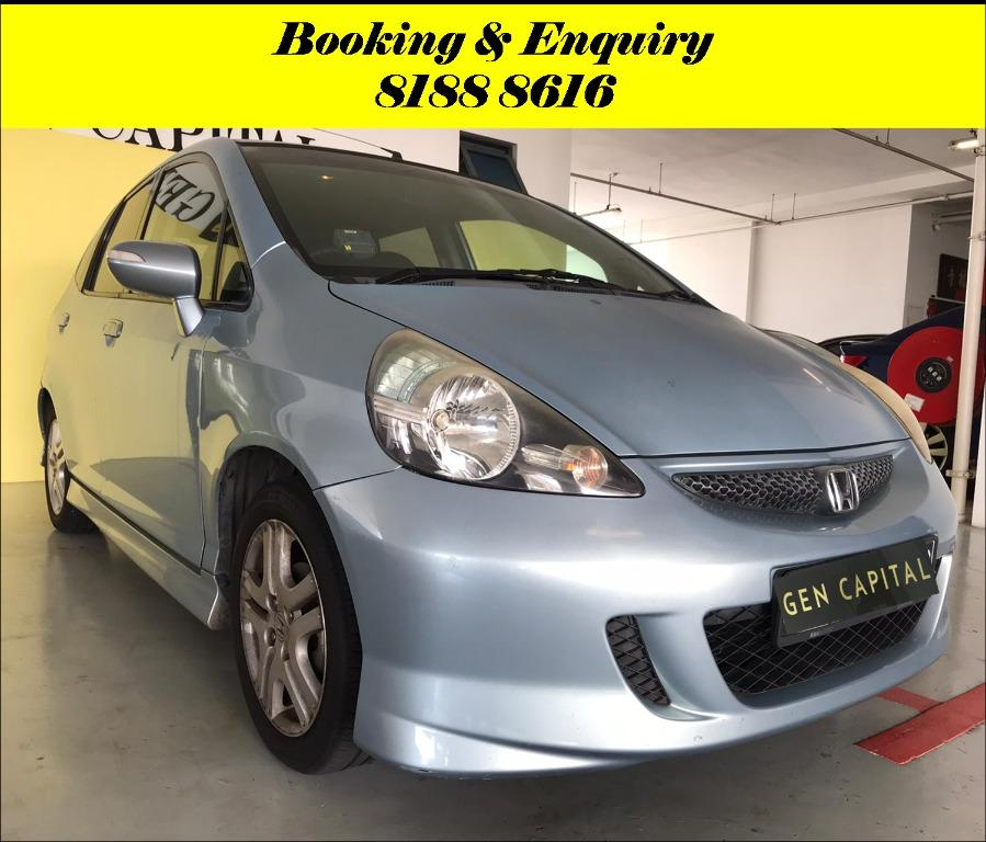 Honda Jazz FRIYAYYY!!! *JUST IN* We have lowered rental rates due to Coronavirus for you to travel with a peace of mind. Fuel efficient & Spacious. Just $500 Deposit driveoff immediately. No hidden cost. Whatsapp 8188 8616 now!