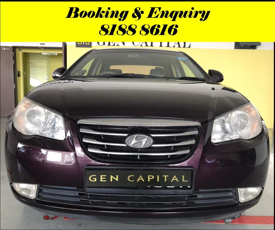 Hyundai Avante FRIYAYYY!!! *JUST IN* We have lowered rental rates due to Coronavirus for you to travel with a peace of mind. Fuel efficient & Spacious. Just $500 Deposit driveoff immediately. No hidden cost. Whatsapp 8188 8616 now!