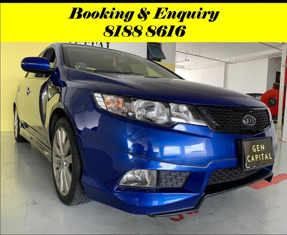 Kia Cerato Forte FRIYAYYY!!! *JUST IN* We have lowered rental rates due to Coronavirus for you to travel with a peace of mind. Fuel efficient & Spacious. Just $500 Deposit driveoff immediately. No hidden cost. Whatsapp 8188 8616 now!