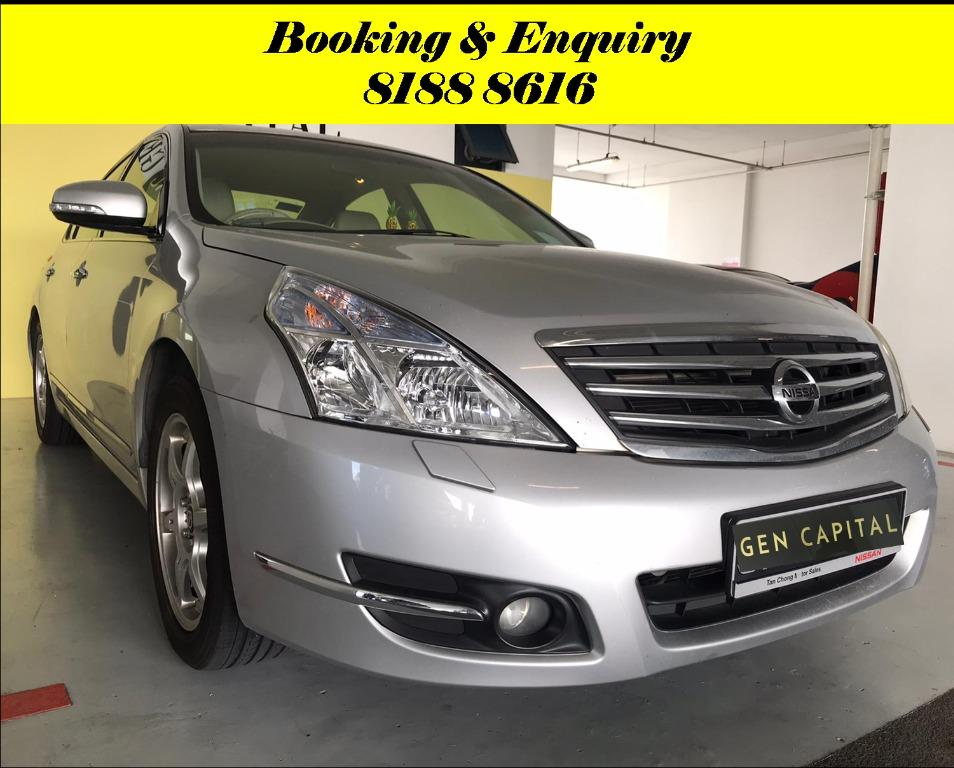 Nissan Teana FRIYAYYY!!! *JUST IN* We have lowered rental rates due to Coronavirus for you to travel with a peace of mind. Fuel efficient & Spacious. Just $500 Deposit driveoff immediately. No hidden cost. Whatsapp 8188 8616 now!