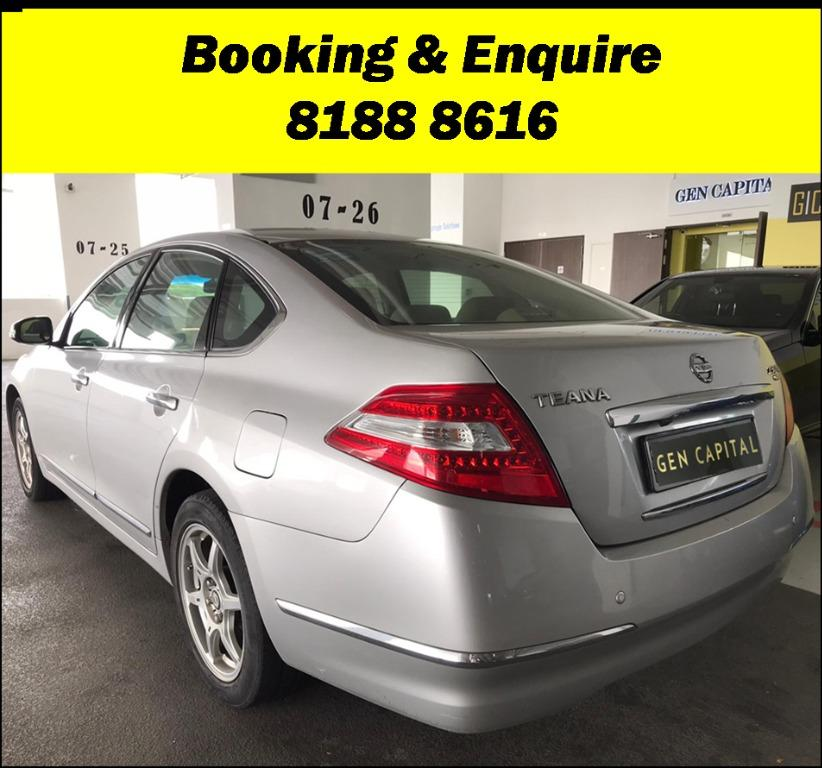 Nissan Teana FRIYAYYY!!!  We have lowered rental rates due to Coronavirus for you to travel with a peace of mind. Fuel efficient & Spacious. Just $500 Deposit driveoff immediately. No hidden cost. Whatsapp 8188 8616 now!