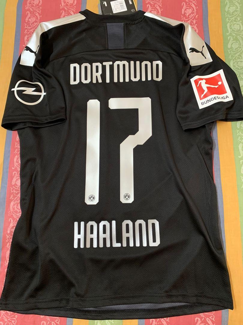Official Authentic Puma Bvb Borussia Dortmund 2019 2020 Away Jersey Haaland 17 German Bundesliga Kit Sports Sports Apparel On Carousell