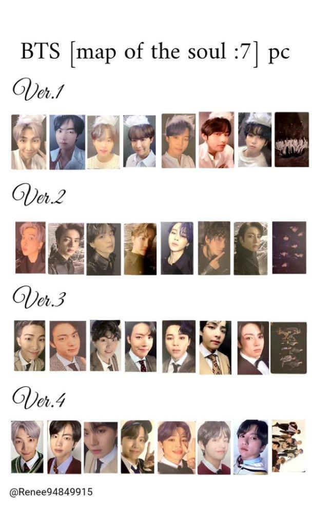 [Preorder] BTS Maps of the Soul : 7 Official Photocards