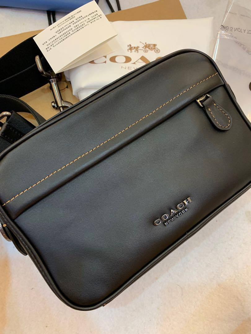 Ready stock authentic coach men sling bag 39946 crossbody bag