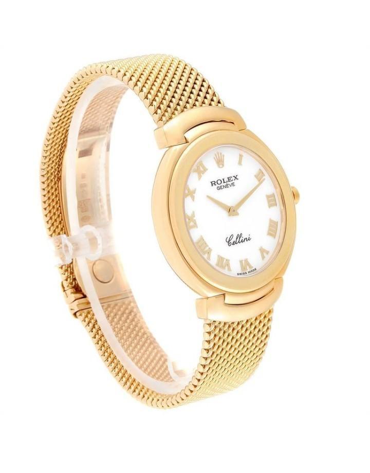 Rolex Cellini Yellow Gold White Roman Dial Men's Watch 6623