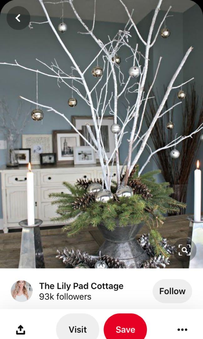 Wedding Decor White Branches