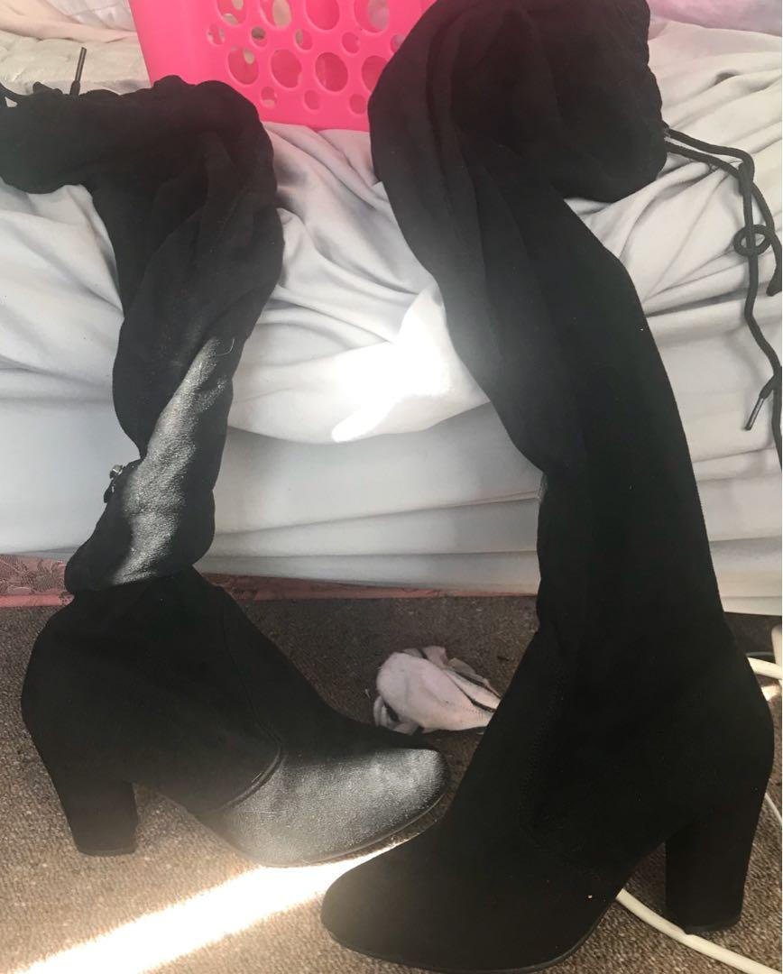 Shoes don't wear anymore from size 6-7 can sell seperate if need be (price will be for all shoes) knee high boots-$15, ankle boots, $10, sneakers, $10 and addidas $40